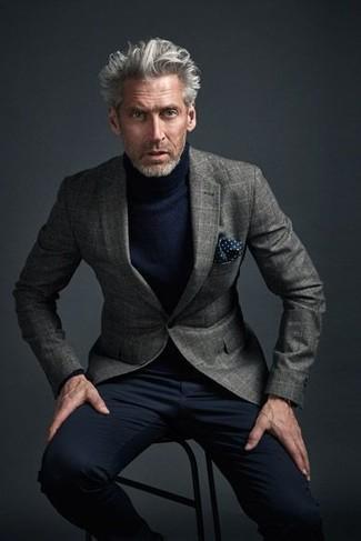 graues Wollsakko mit Karomuster von Calvin Klein 205W39nyc