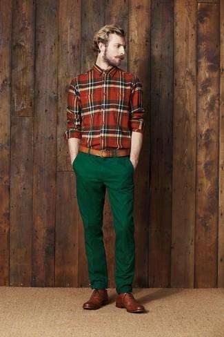 braune Leder Brogues von Selected Homme