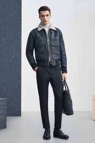 schwarze klobige Leder Derby Schuhe von Marsèll