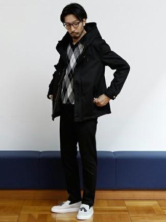 schwarzer Pullover von Cortefiel