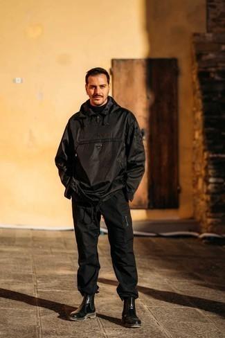 schwarze Jacke von Schott