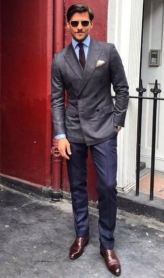 dunkelbraune gepunktete Krawatte von Dunhill