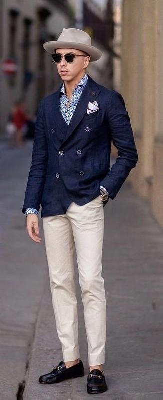 dunkelblaue Jacke von Cortefiel