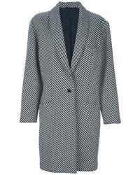 Kombinieren Sie ein schwarzes Spitze Etuikleid mit einem Mantel für Drinks nach der Arbeit.