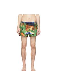 mehrfarbige bedruckte Badeshorts von Versace Underwear