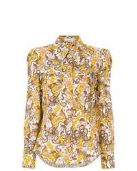 mehrfarbige bedruckte Bluse mit Knöpfen von Chloé