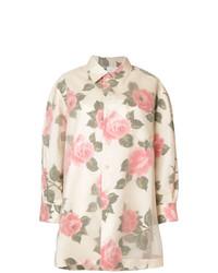 mehrfarbige bedruckte Bluse mit Knöpfen von Maison Margiela