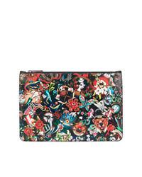 mehrfarbige bedruckte Clutch Handtasche von DSQUARED2