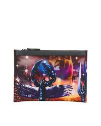 mehrfarbige bedruckte Clutch Handtasche von Lanvin