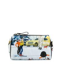mehrfarbige bedruckte Clutch Handtasche von Moncler