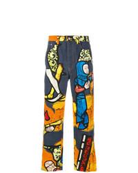 mehrfarbige bedruckte Jeans von JW Anderson