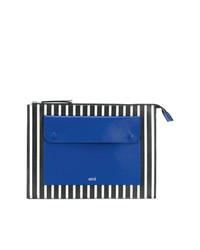 mehrfarbige bedruckte Leder Clutch Handtasche von AMI Alexandre Mattiussi