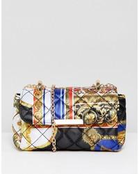 mehrfarbige bedruckte Lederhandtasche von ASOS DESIGN