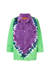 mehrfarbige bedruckte Shirtjacke