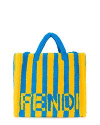 mehrfarbige bedruckte Shopper Tasche aus Segeltuch