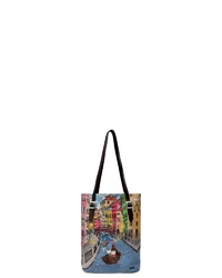 mehrfarbige bedruckte Shopper Tasche aus Segeltuch von DOGO