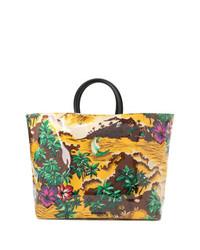 mehrfarbige bedruckte Shopper Tasche aus Segeltuch von Dsquared2