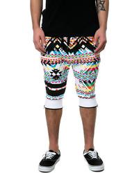 mehrfarbige bedruckte Shorts