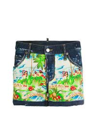 mehrfarbige bedruckte Shorts von Dsquared2