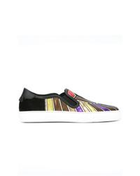 mehrfarbige bedruckte Slip-On Sneakers aus Leder von Givenchy