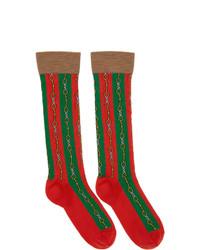 mehrfarbige bedruckte Socken von Gucci