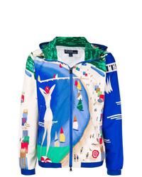 mehrfarbige bedruckte Windjacke von Polo Ralph Lauren