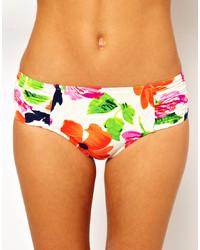 mehrfarbige Bikinihose mit Blumenmuster von Seafolly