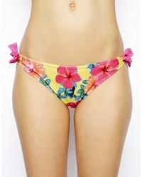 mehrfarbige Bikinihose mit Blumenmuster von South Beach