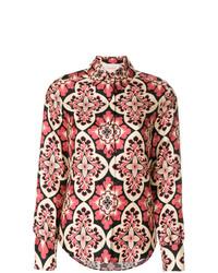 mehrfarbige Bluse mit Knöpfen von La Doublej