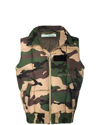 mehrfarbige Camouflage ärmellose Jacke von Off-White