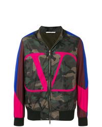 mehrfarbige Camouflage Bomberjacke von Valentino