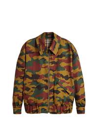 mehrfarbige Camouflage Militärjacke von Burberry