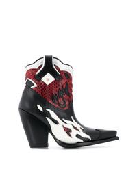 mehrfarbige Cowboystiefel aus Leder von Valentino