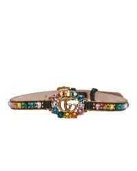 mehrfarbige enge Halskette aus Leder von Gucci
