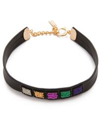 mehrfarbige enge Halskette