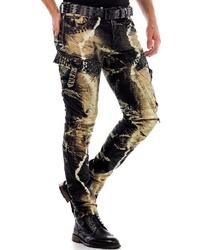 mehrfarbige enge Jeans von Cipo & Baxx