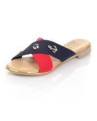 mehrfarbige flache Sandalen von Alba Moda