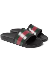 mehrfarbige Gummi Sandalen von Gucci