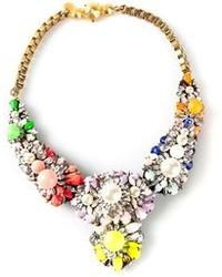 mehrfarbige Halskette mit Blumenmuster von Shourouk