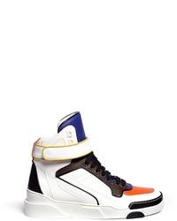 mehrfarbige hohe Sneakers