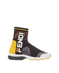 mehrfarbige hohe Sneakers von Fendi