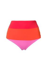 mehrfarbige horizontal gestreifte Bikinihose von Mara Hoffman