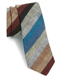 mehrfarbige horizontal gestreifte Krawatte