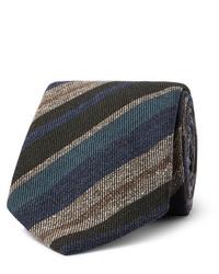 mehrfarbige horizontal gestreifte Krawatte von Brioni