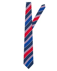 mehrfarbige horizontal gestreifte Krawatte von EAST CLUB LONDON