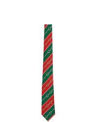 mehrfarbige horizontal gestreifte Krawatte von Gucci