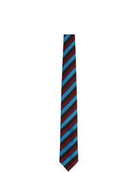 mehrfarbige horizontal gestreifte Krawatte von Prada