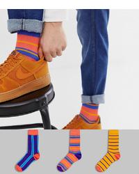 mehrfarbige horizontal gestreifte Socken von ASOS DESIGN