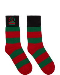 mehrfarbige horizontal gestreifte Socken von Gucci