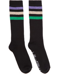 mehrfarbige horizontal gestreifte Socken von Palm Angels